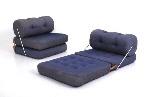 Blaue Modell Tajt Sessel von Lundgren Gillis für Ikea, 1970er, 2er Set