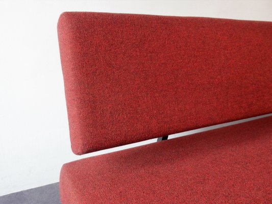 Dutch Model BR03 Red Sofa Bed by Martin Visser for \'t Spectrum, 1960s