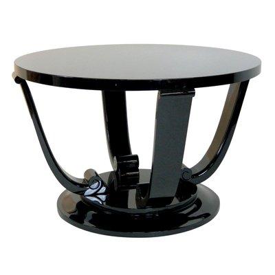 Table d\'Appoint Art Déco Noire, France, années 30