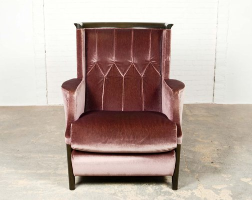 Awesome Purple Velour Lounge Chair From Giorgetti 1970S Beatyapartments Chair Design Images Beatyapartmentscom