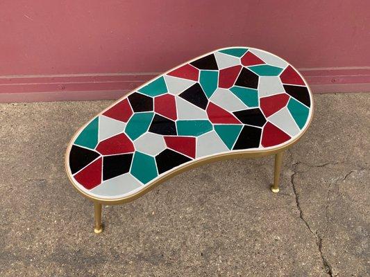 Pleasing German Brass Side Table 1950S Bralicious Painted Fabric Chair Ideas Braliciousco