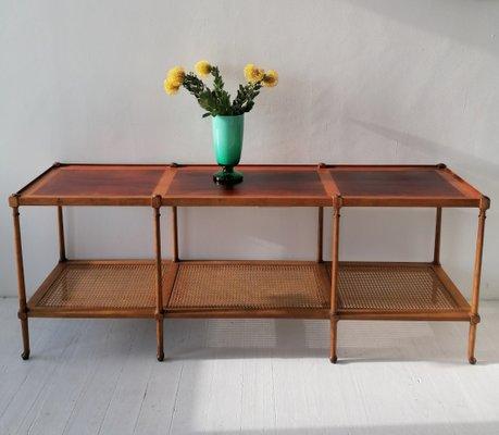 Sensational American Walnut Cane And Rosewood Console Table From Baker Furniture Company 1960S Spiritservingveterans Wood Chair Design Ideas Spiritservingveteransorg