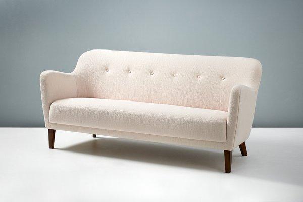 White Danish Sofa 1940s For At Pamono