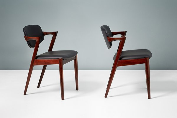 Model 42 Rosewood Dining Chairs By Kai Kristiansen For Skovmand Andersen 1956 Set Of 8