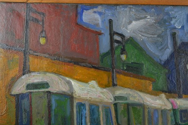 Peinture à L Huile Art Déco Par Zuka 1920s