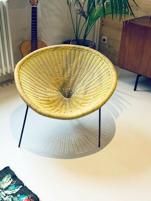 Excellent Rattan Side Chair By Robert Mango 1950S Camellatalisay Diy Chair Ideas Camellatalisaycom
