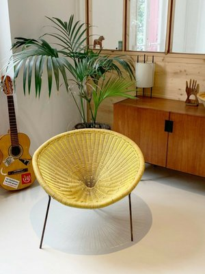 Awesome Rattan Side Chair By Robert Mango 1950S Camellatalisay Diy Chair Ideas Camellatalisaycom