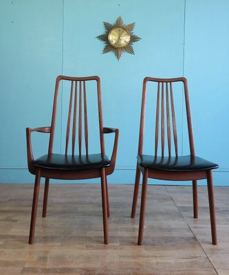 Miraculous Teak And Black Vinyl Dining Chairs By Anders Hansen For Mobelfabrik Holstebro 1960S Set Of 4 Gmtry Best Dining Table And Chair Ideas Images Gmtryco