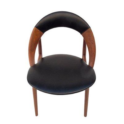 Fine Mid Century Teak And Leather Desk Chair By Arne Hovmand Olsen Creativecarmelina Interior Chair Design Creativecarmelinacom