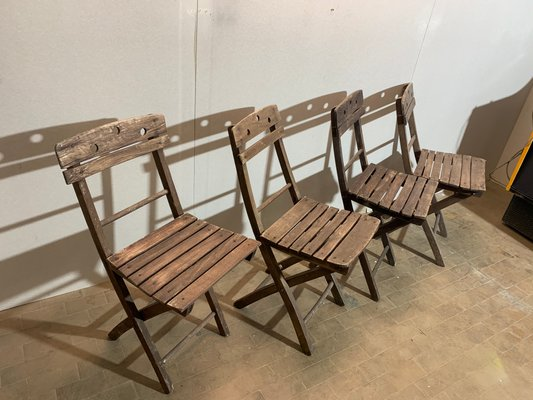 Astounding Mid Century Folding Beach Chairs Set Of 4 Lamtechconsult Wood Chair Design Ideas Lamtechconsultcom