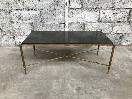 Enjoyable Brass And Black Granite Coffee Table From Maison Jansen 1940S Pabps2019 Chair Design Images Pabps2019Com