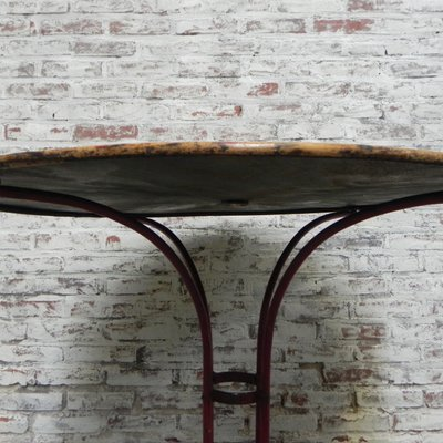 Sedie In Ghisa Da Giardino Prezzi.Tavolo Da Giardino In Acciaio E Ghisa Francia Anni 30 In