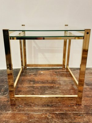 Vintage Gold Plated Nesting Tables Set Of 2