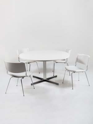 Danish Pedestal Dining Table And Model, Pedestal Dining Room Tables And Chairs