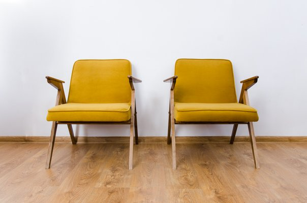 Outstanding Mustard Model 300 177 Bunny Lounge Chairs From Dolnoslaskie Furniture Factories 1970S Set Of 2 Creativecarmelina Interior Chair Design Creativecarmelinacom