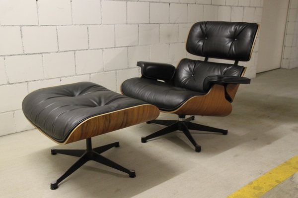 Astounding Lounge Chair Ottoman By Charles Ray Eames For Vitra 1970S Theyellowbook Wood Chair Design Ideas Theyellowbookinfo
