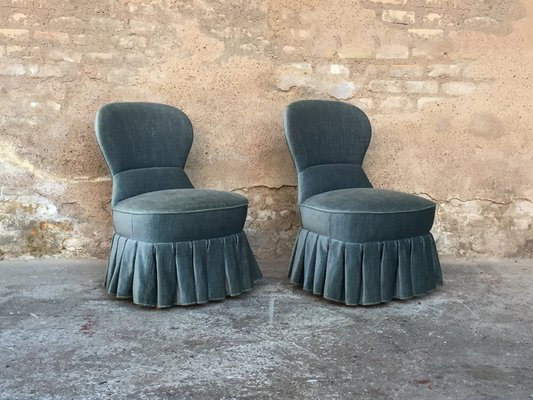 Cool Mid Century Blue Velvet Lounge Chairs Set Of 2 Alphanode Cool Chair Designs And Ideas Alphanodeonline