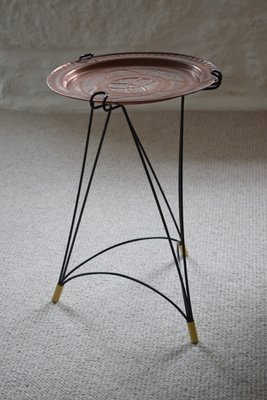 Copper Tray Side Table 1950s