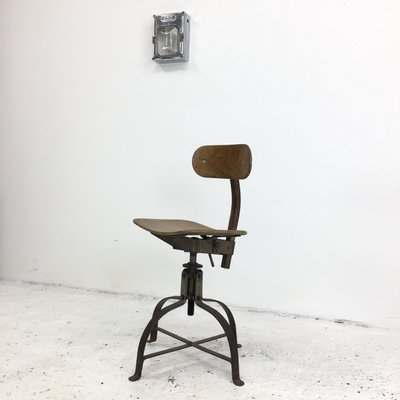 Awe Inspiring French Model 204 Desk Chair From Bienaise 1950S Forskolin Free Trial Chair Design Images Forskolin Free Trialorg