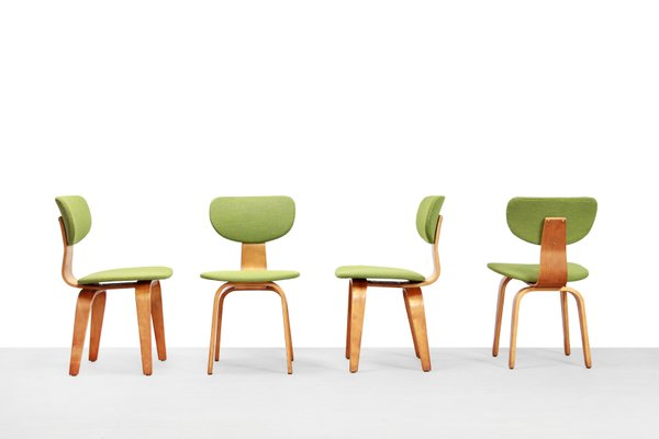 Magnificent Birch Model Sb03 Dining Chairs By Cees Braakman For Pastoe 1950S Set Of 4 Caraccident5 Cool Chair Designs And Ideas Caraccident5Info