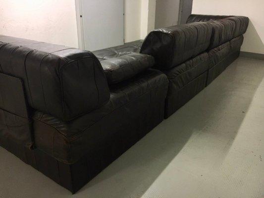 Dark Brown Leather Modular Sofa From De Sede 1970s