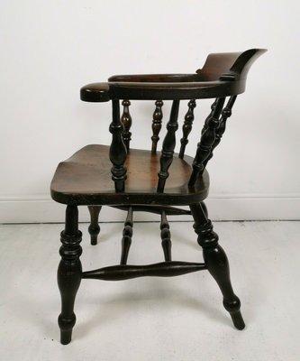 Groovy Antique Elm Desk Chair Uwap Interior Chair Design Uwaporg