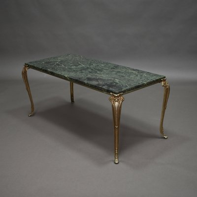 Vintage Green Marble Coffee Table 1960s For Sale At Pamono