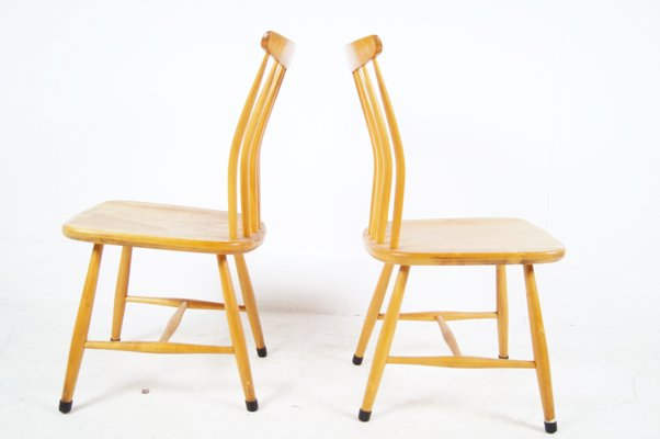 Brilliant Model Sz03 Dining Chairs By Bengt Akerblom Gunnar Eklof For Akerblom 1950S Set Of 2 Theyellowbook Wood Chair Design Ideas Theyellowbookinfo