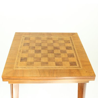 Chess Board Top Coffee Table With Set 1940s