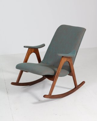 Teak Rocking Chair By Louis Van Teeffelen For Webe 1960s For Sale At Pamono