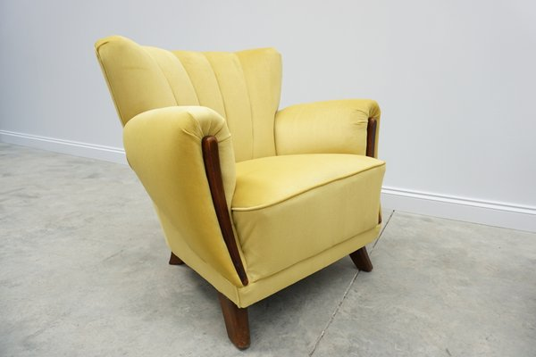 Super Danish Velvet Lounge Chairs 1960S Set Of 2 Caraccident5 Cool Chair Designs And Ideas Caraccident5Info