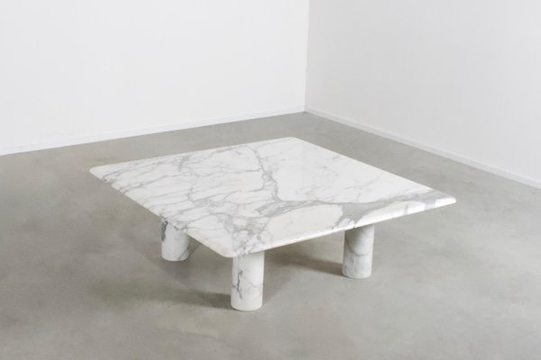 Large Italian Marble Coffee Table By Angelo Mangiarotti For Up 1970s
