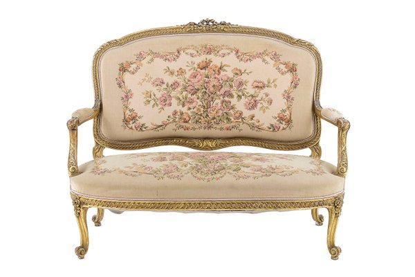 Antique Giltwood And Tapestry Sofa