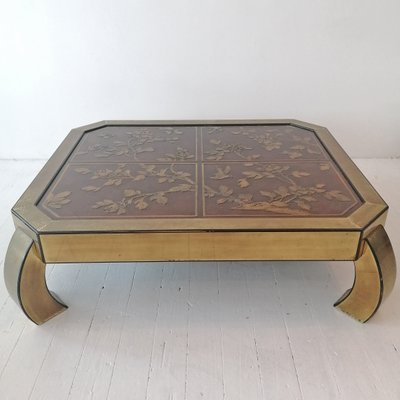 Large American Coffee Table By Bernard Rohne For Mastercraft