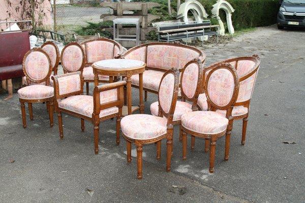Antique Living Room Set, Set of 10