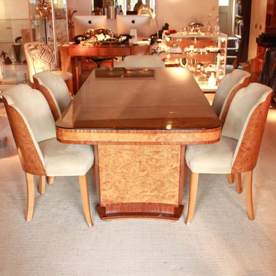 Art Deco Dining Table And Chairs Set By