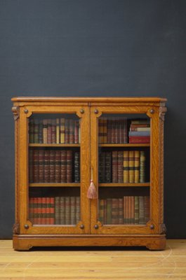 Antique Victorian Oak Bookcase For