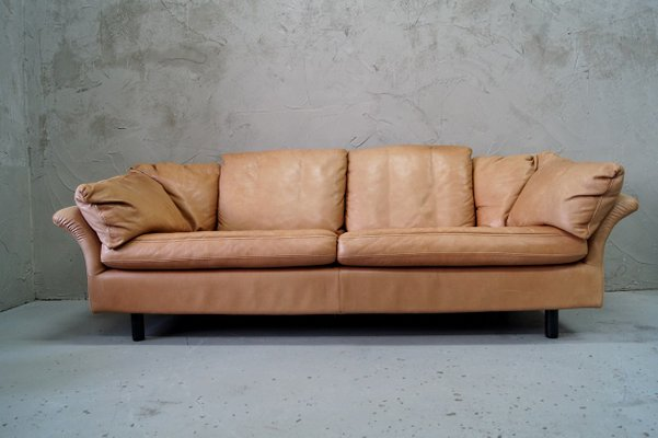 Swedish 3 Seater Leather Sofa From Dux