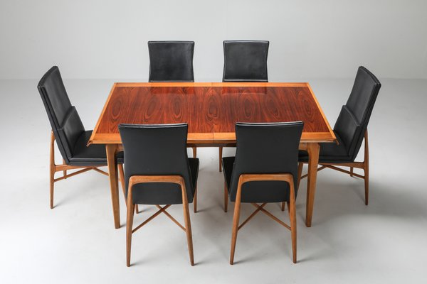 Extendable Model Madison Rosewood, Expandable Dining Room Table Seats 12