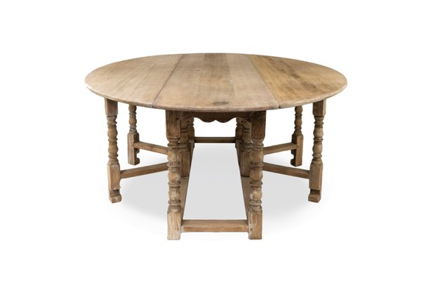 Antique English Oak Dining Table 1900s For Sale At Pamono