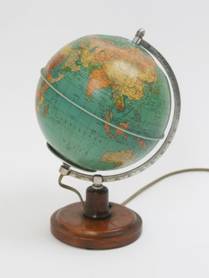 Mid Century World Globe Lamp For