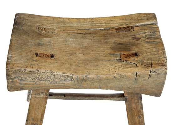 Antique Chinese Hardwood Stool Bei
