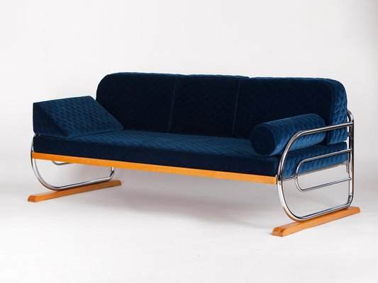 Art Deco Tubular Steel Couch From Hynek Gottwald 1930s For Sale At Pamono