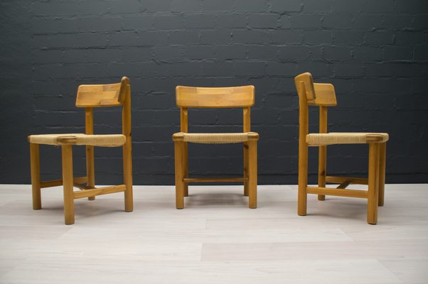 Scandinavian Wood Side Chairs 1960s Set Of 3 For Sale At Pamono