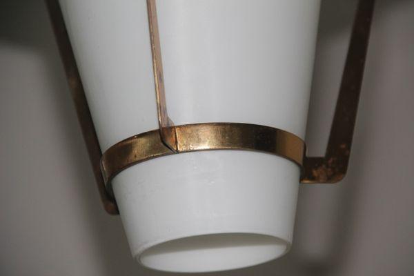 Lampade Da Soffitto Design : Lampada da soffitto da design di stilnovo in ottone e vetro in