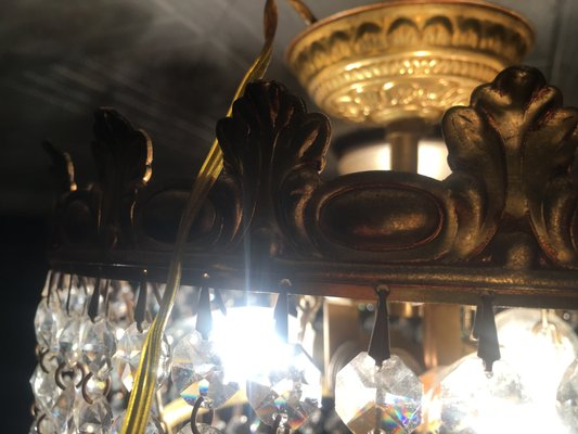 Small Crystal Chandelier 1960s Bei