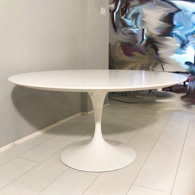 Knoll International Saarinen alrededor de Eero Saarinen blanco d 51 cm mesa auxiliar