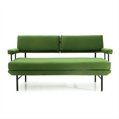 Green Fabric And Metal Sofa Bed