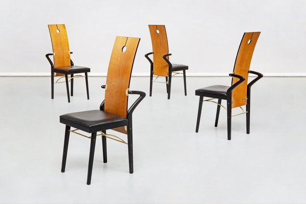 Sedie da pranzo di Pierre Cardin, anni '80, set di 4