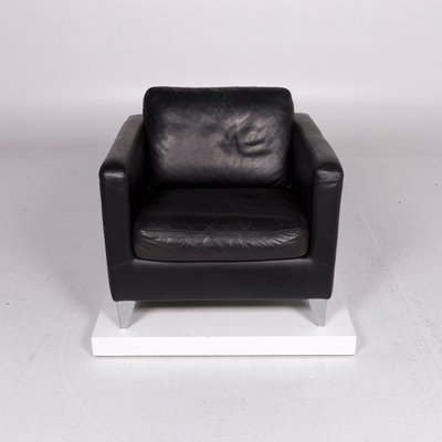 Machalke Design Bank.Vintage Black Leather Armchair From Machalke For Sale At Pamono